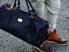 Check out this black ostrich travel duffle by Two Riche! 15% off with code PR15 -  http://bst.is/tYz4W8