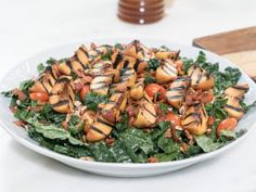 Grilled Peach and Bacon Salad Recipe | Ayesha Curry | Food Network
