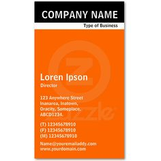 Cute super modern graphic art director business cards make your own v header band black with orange ff6600 business card reheart Gallery