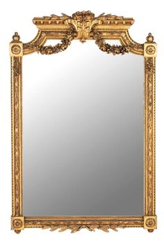 An Empire style gilt framed mirror, French, 19th century