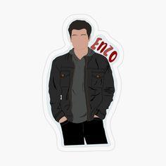 Enzo Vampire Diaries, Vampire Diaries Workout, Vampire Diaries Poster, Vampire Diaries Wallpaper, Vampire Diaries The Originals, Cute Laptop Stickers, Cool Stickers, The Vampire Diaries Characters, Tupac Pictures