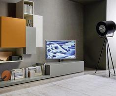Fresh H ngendes Lowboard mit TV S ulen Halterung