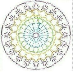 New Crochet Bag Pattern Diagram Patrones Ideas Crochet Coaster Pattern, Crochet Mandala Pattern, Crochet Motifs, Crochet Diagram, Crochet Stitches Patterns, Doily Patterns, Crochet Chart, Crochet Dreamcatcher Pattern, Crochet Dollies