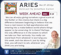 Dec 5-11th 2015 from Jonathan Cainer. Click the image above to read your forecast for today! #Horoscope #Zodiac #Astrology #Aries