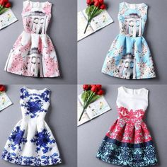 New Fashion Womens Retro Vintage Slim Floral Printed Party Evening Casual Dress | eBay