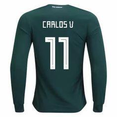 2018 Mexico Carlos World Cup LS Home Jersey  L760  Héctor Herrera c1f3ada7a86ea