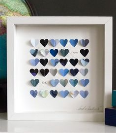 Little Sky Hearts Personalized Framed Picture