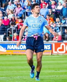 He's been missing in action since the the fifth round league tie against Kerry where he suffered a dislocated shoulder, but Cian O'Sullivan is moving ever closer to a return to the Dublin team. Gay Aesthetic, Men's Football, Sport Quotes, Dublin, Socks, Running, Stockings, Racing, Keep Running