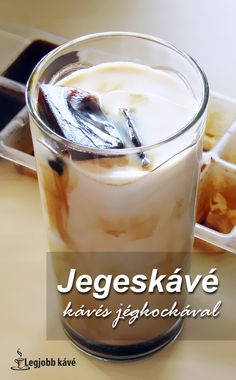 Hűsítsd magad jegeskávéval. #jegeskávé #recept #kávé #jégkocka Frappuccino, Coca Cola, Latte, Food And Drink, Pudding, Foods, Coffee, Drinks, Food Food