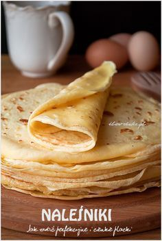 Polish Recipes, Breakfast Recipes, Pancakes, Food And Drink, Tasty, Favorite Recipes, Lunch, Baking, Dinner