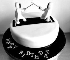 Fencing Birthday Cake - Happy 6th Birthday All-American Fencing Academy
