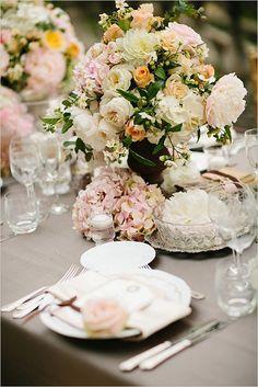 Romantic wedding centerpieces.