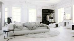 White Bedroom, CGI artwork by JurajTalcik. Full project (Including work-in-progress, screenshots and all renders) on Behance: