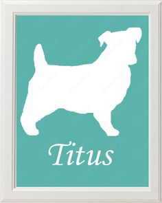 Jack Russell Wall Art Print Dog Jack Russell Gift Ideas Silhouette Art Jack Russell 8 X 10 Print