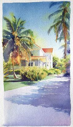 Eleuthera, Marlies Merk Najaka, Watercolor