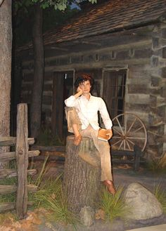 Display of young Abe Lincoln at his Presidential Museum & Library in Springfield, Illinois.    (by Galen R. Frysinger, Wisconsin)