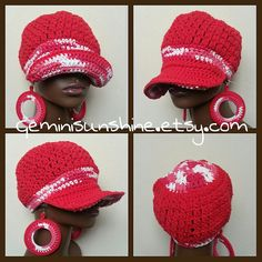 Cherry Sol Divine Being Crochet Cotton Cap and by Geminisunshine