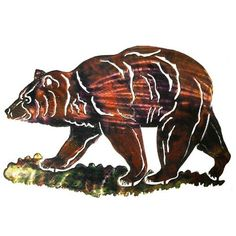 Next Innovations WA3DMBEAR Bear Refraxions 3D Wall Art, Medium ** Review more details here : Home Decor Sculptures