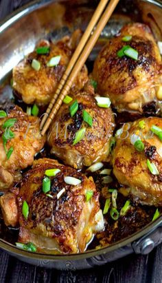 Asian Chicken thighs | chicken dinner idea, main dish recipes, chicken meal