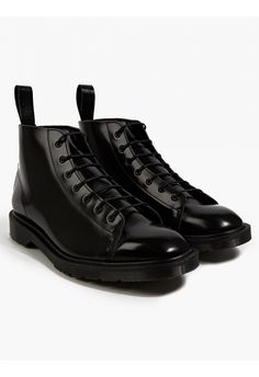 Dr Martens Men's oki-ni Exclusive Black Boanil Brush Leather Les Boots | oki-ni