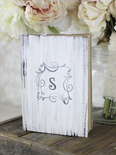 Wedding Guest Book Shabby Chic Decor Rustic by braggingbags, $32.50