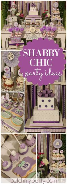 You have to see this lovely lilac shabby chic party! See more party ideas at CatchMyParty.com!