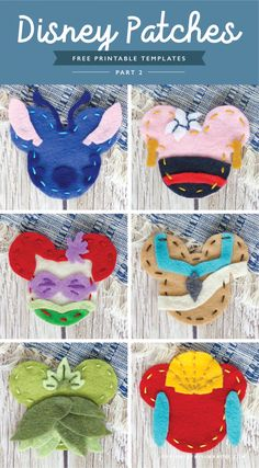 DIY Disney Patches - Part 2 FREE DIY Disney Patches – Part 2 - Designs By Miss Mandee. This is such a cute craft to do to get ready fo. Crafts For Teens To Make, Crafts To Do, Felt Crafts, Stick Crafts, Disney Cute, Disney Ears, Disney Disney, Disney Bound, Disney Christmas Decorations