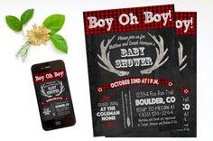 Coed Baby Shower Invitation Baby Boy Shower by DaintyPress on Etsy