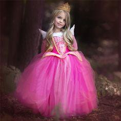 Девочка принцесса Эльза Платье Хеллоуин Костюм Для Детей Дети Одежда Девушка Аврора Спящая Красавица Костюмированный Бал Партия Носить купить на AliExpress