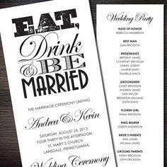 10 best wedding programs images on pinterest wedding stationery