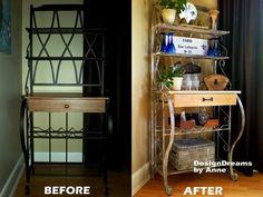 DesignDreams by Anne: Bakers Rack Makeover - Industrial Look