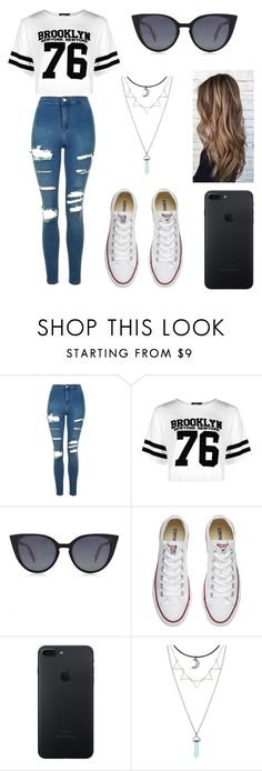 """Untitled #98"" by ladivazamendes on Polyvore featuring Topshop, Boohoo, Fendi and Converse"