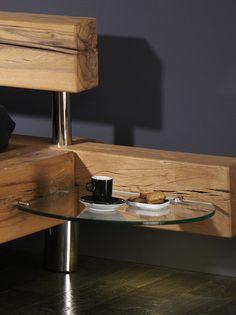Bedroom Bed Design, Bedroom Furniture Design, Wood Bedroom, Diy Furniture Projects, Bed Furniture, Platform Bed Designs, Tv Cabinet Design, Diy Bett, Log Bed