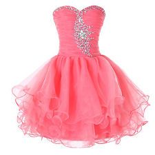 Strapless Evening Flower Girl Bridesmaid Homecoming Cocktail Party Prom Dresses