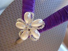 PURPLE Bridal Flip Flops for Bridesmaids by AdrianaDosSantos