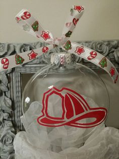 Fire Fighter Christmas Ornament by JennDesignz on Etsy
