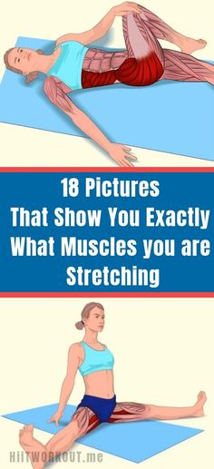 18 Pictures That Show You Exactly What Muscles you are Stretching., 18 Pictures That Show You Exactly What Muscles you are Stretching. 18 Pictures That Show You Exactly What Muscles you are Stretching. 18 Pictures That. Fitness Workouts, Yoga Fitness, Sport Fitness, Ab Workouts, At Home Workouts, Fitness Motivation, Health Fitness, Muscle Fitness, Fitness Equipment