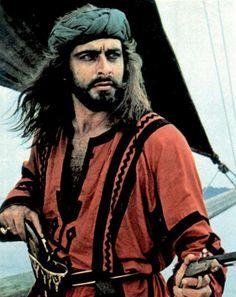 Sandokan - Sergio Sollima, 1976 (serie). Tratto dai romanzi di E. Salgari e interpretato da Kabir Bedi