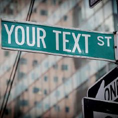 Create your own iconic New York street sign name
