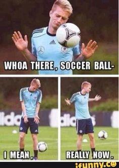 Sassy soccer player.