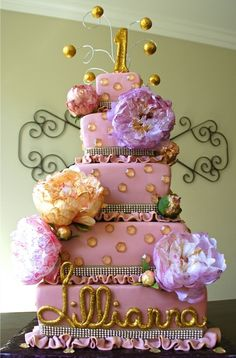 sparkling peonies birthday cake possibility for my 18th birthday cake