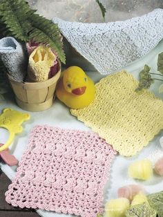 Baby Wash cloths to crochet...They are quick, easy and make great gifts!