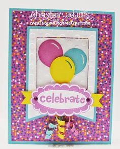 Creating with Christine: Confetti Wishes Club Cards!