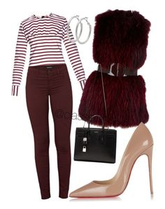 """""""Untitled #184"""" by mama-liciuos ❤ liked on Polyvore featuring мода, Marni, J Brand, P.A.R.O.S.H., Christian Louboutin, Yves Saint Laurent и M&Co"""