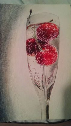 Colored pencil, Glass drawing