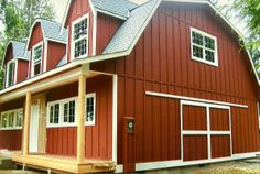 Can 39 t wait to put on the red barn siding for our house for Bedroom furniture 98383