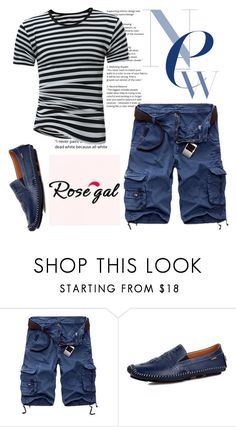 """""""ROSEGAL 8 !"""" by jasmine-monro ❤ liked on Polyvore featuring men's fashion, menswear, shoes, shorts, Tshirt and rosegal"""