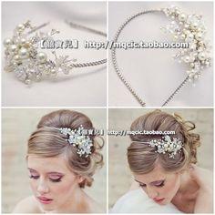 Свадьба невесты ленты для волос garishness роскошные l11 серии волосы аксессуары для волоскупить в магазине Manny Ho's storeнаAliExpress