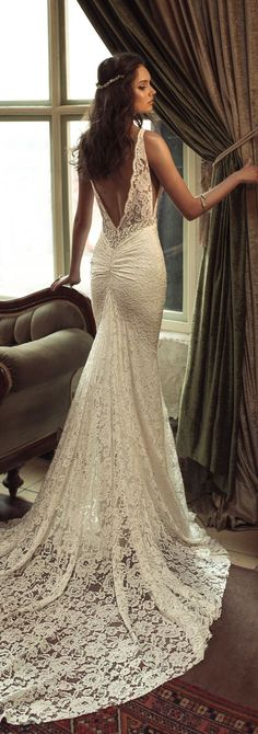 Wedding Dress by Julie Vino 2017 Romanzo Collection | Fitted lace bridal gown with deep back