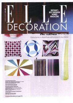 Elle Decoration March edition, Stacks and Stripes sketchbook by Ella Doran
